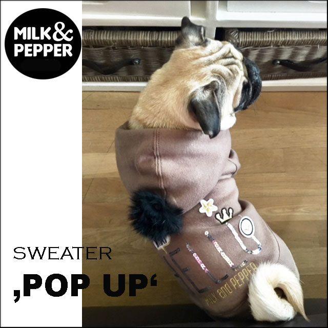 Sweater 'POP UP' braun (Gr.24,26,30)