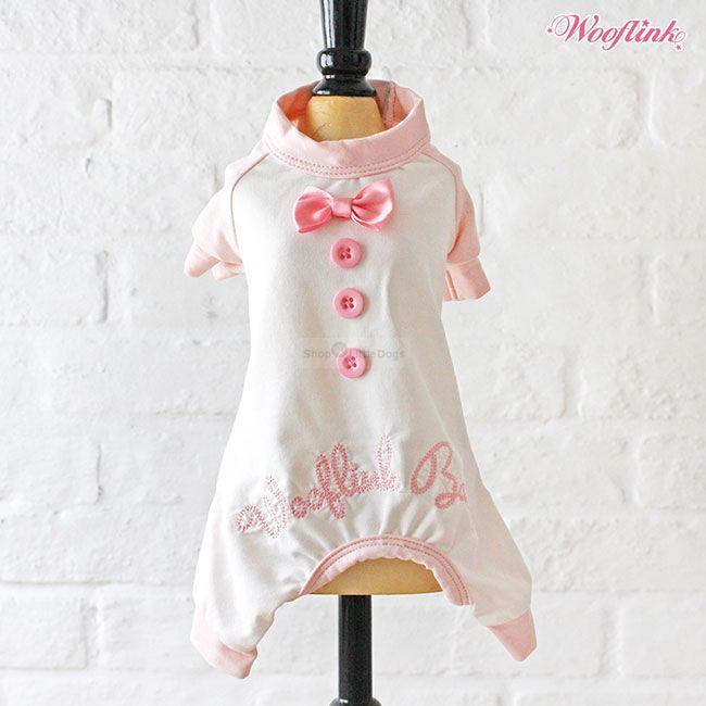 Wooflink 'BABY PJ' weiß-rosa