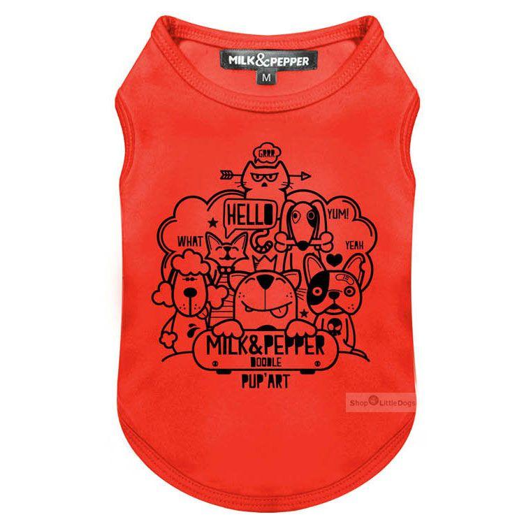 Shirt 'DOODLE' rot (Gr.L,XXL)