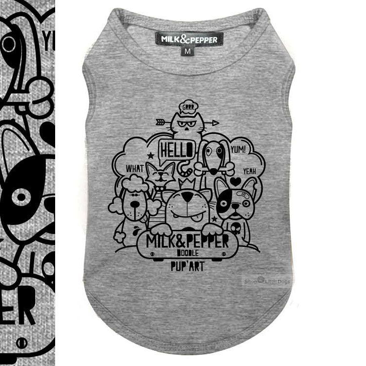 Shirt 'DOODLE' grey (Gr.M,XL,XXL)