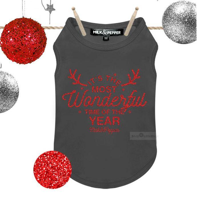 T-Shirt 'Noel' grau