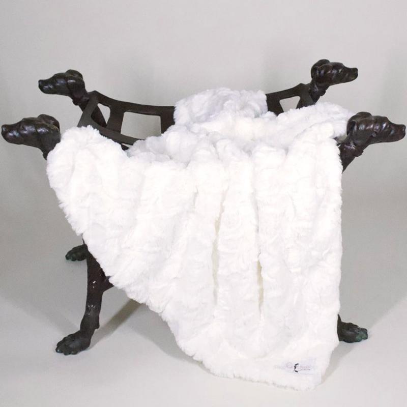 Hundedecke 'LUXE' creme-weiß