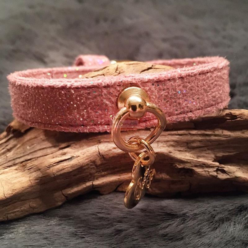 Hundehalsband 'MAGIC' rosé