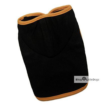 Hunde-Top 'Orange' mit Kapuze, schwarz-orange