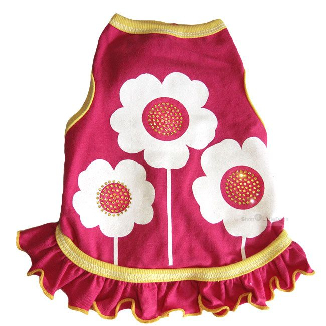 Hundekleid 'Happy Flowers' pink