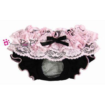 Schutzhöschen 'Romantic' schwarz-pink (Gr.M,L)