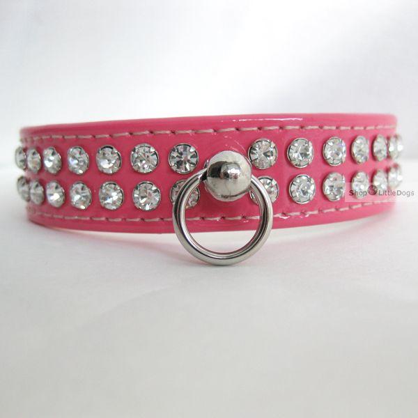 Hundehalsband & Leine 'Ciccone' pink/ Lack, im Set