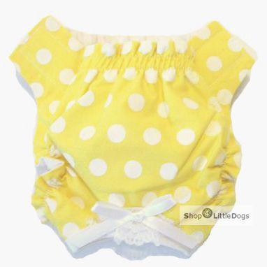 Schutzhöschen 'Sunny' gelb-weiß (Gr.XXS,S)