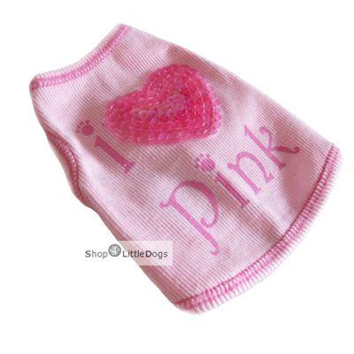 Top 'I Love Pink' pink (Gr.S,L)