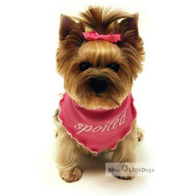 Hunde-Bandana 'Spoiled' rosa (Gr.M)