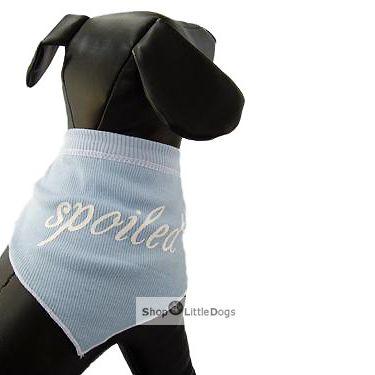 Hunde-Bandana 'Spoiled' blau (Gr.M)