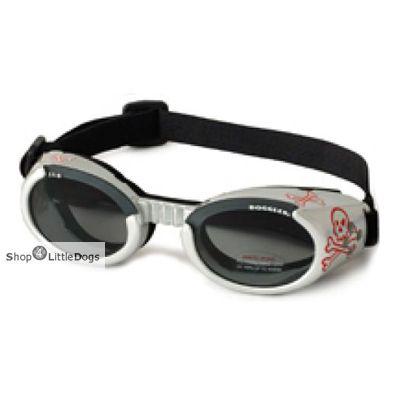 Hunde-Sonnenbrille 'Skull' silber (Gr.M)