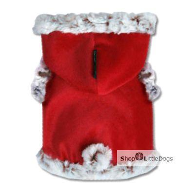 Hundemantel 'Snow Bow' rot (Gr.XXL)