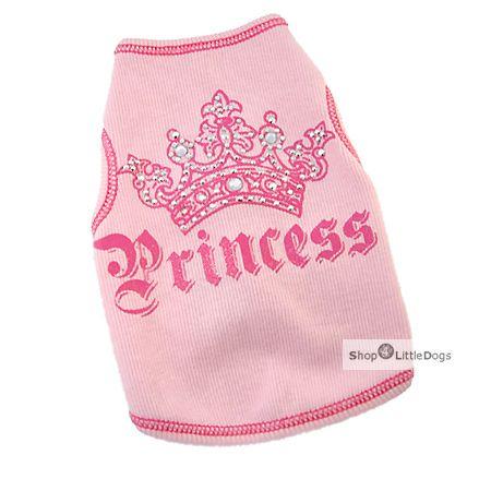 Hunde-Top 'Princess' rosé (Gr.XXS,M)