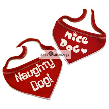 Hunde-Bandana 'Nice Dog' rot (Gr.M)