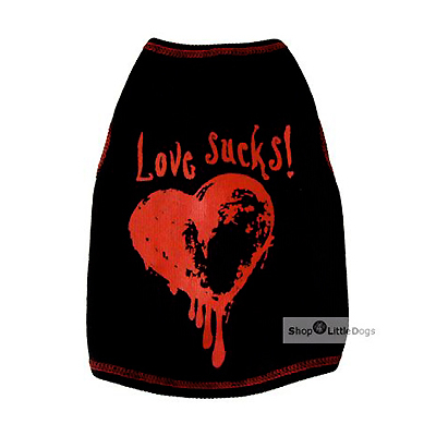 Top 'Love Sucks' schwarz (Gr.XXS,M)