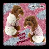 Hunde-Dress 'Flower Garden' weiß (Gr.1,4)