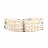 Hunde-Perlenkette Kristina weiß (Gr.M,L)