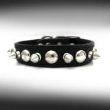 Hunde-Halsband Spikes schwarz