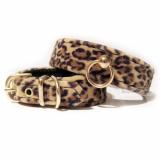 Hunde-Halsband 'Animal' braun (Gr.XS,M,L)