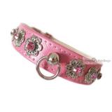 Hundehalsband & Leine Kimy pink, im Set (Gr.S,L)
