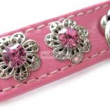 Hundehalsband & Leine 'Kimy' pink, im Set (Gr.S,L)