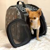 Hunde-Reisetasche Milano grau