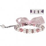 Perlen-Collier Satin Pearl rosé
