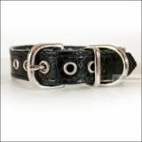 Hunde-Halsband 'Snake Skin' schwarz