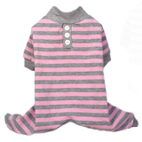 Pyjama Striped rosé-grau/ gestreift (Gr.XS)