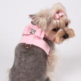 Hunde-Geschirr Big Bow rosé