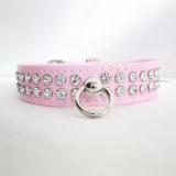 Hunde-Halsband & Leine Ciccone rosé-Lack, im Set