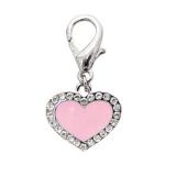 Charm Enamel Heart rosé