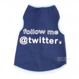 Hundetop Twitter me blau (Gr.XXS,S)