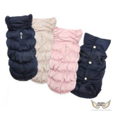 Winterjacke Luxury dunkelblau, rosé, beige