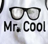 Top 'Mr.Cool' weiß-silber (Gr.S,M,L)