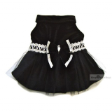 Hunde-Kleid Eve schwarz (Gr.XXS, XS)