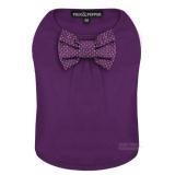 Hunde-Shirt Bow lila (Gr.XS)