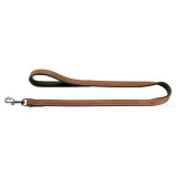 Hunde-Halsband 'Elk Skin' cognac/ schwarz