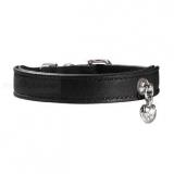 Hunde-Halsband 'Elk Crystal' schwarz (Gr.S)