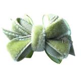 Haarschleife Velvet grün