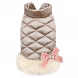 Hunde-Mantel 'Chic-Chic' champagne (Gr.XS,S)