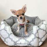 Hundebett 'Rome' weiß-grau