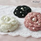 Haarschleife Bloom schwarz, weiß