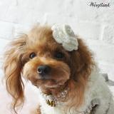 Haarschleife 'Bloom' white, black, rosé