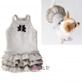 Hundekleid 'Pretty' grau