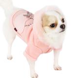 Hunde-Jacke 'Momy Love' rosé (Gr.L)