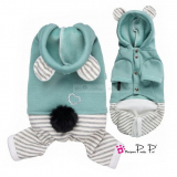 Hunde-Overall Pretty Bear teal (Gr.XS)