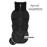 Hundejacke Whippet schwarz (T41)