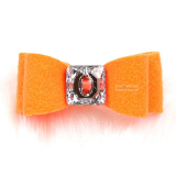 Hunde-Haarschleife Big Bow electric orange